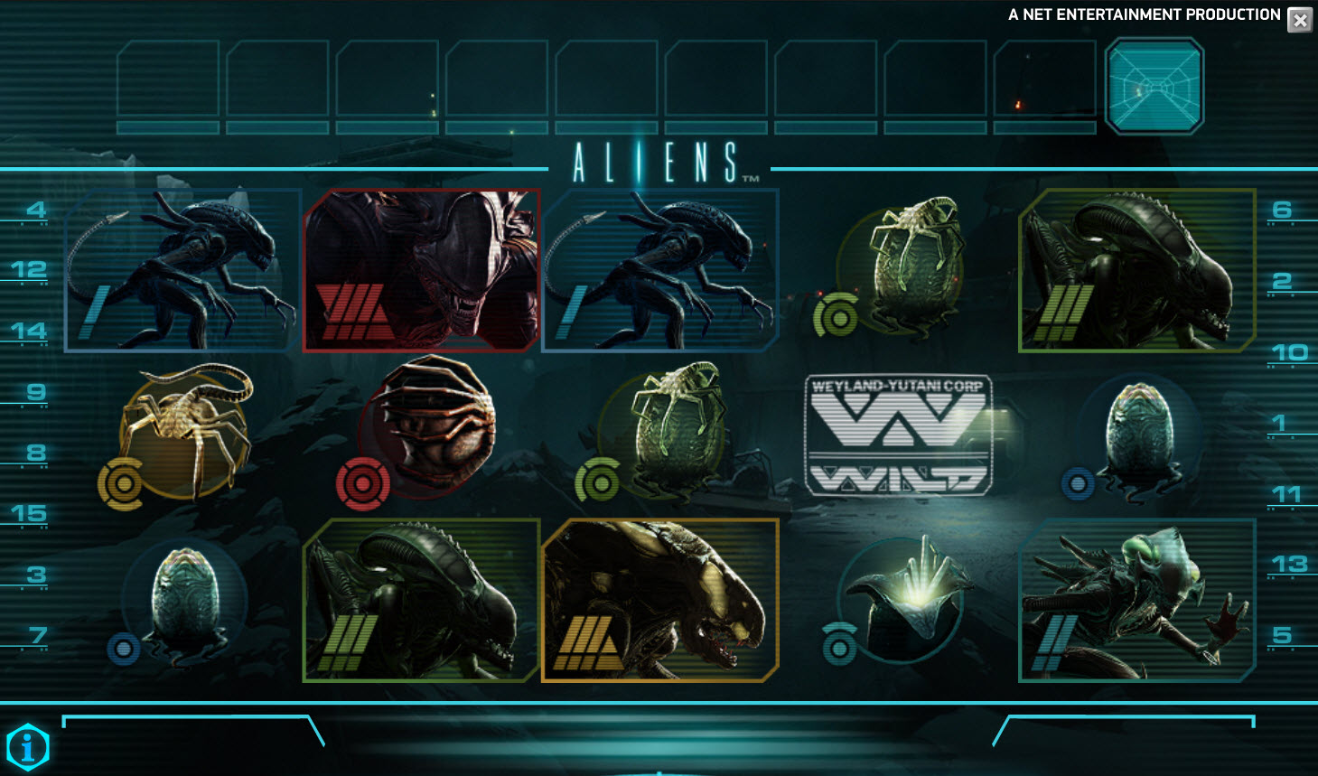 Aliens Slot von Net Entertainment